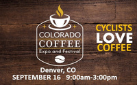 COLORADO COFFEE FEST- CYCLIST Discounts NOW! Free Cap